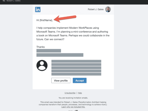 How not to send a LinkedIn message