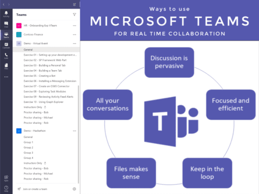 Microsoft Teams for Real Time Collaboration