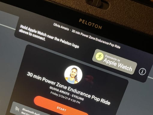 Peloton Apple Watch Sync step